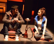 Tamasha's production of Blood.  Adam Samuel-Bal (Sully) and Krupa Pattani (Caneze). Photo credit - Robert Day (1)