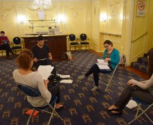 Masterclass, Pitch Your Play 2015 James Marsden, Remmie Milner, Dino Kelly, Asia Osborne & Emma Whipday in Rehearsal for Shakespeare's Sister