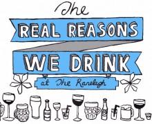 real reasons we drink