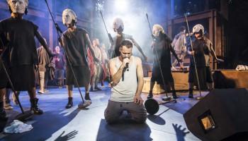 Jesus Christ Superstar. Declan Bennett as Jesus at the Open Air Theatre in Regent's Park