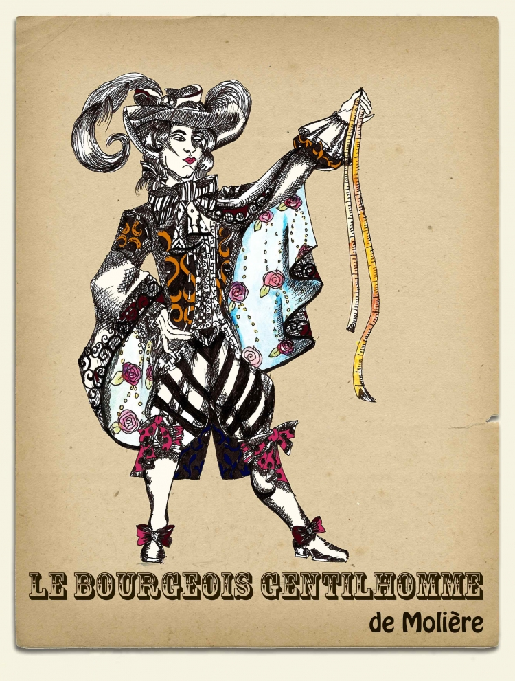 le bourgeois gentilhomme Le bourgeois gentilhomme (french pronunciation: [lə buʁʒwa ʒɑ̃tijɔm], the bourgeois gentleman or the middle-class aristocrat or the would-be noble) is a five.