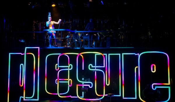 Pleasure - Mark Simpson and Melanie Challenger - Opera North, Aldeburgh Music and Royal Opera House - 29 April 2016Conductor - Nicholas KokDirector - Tim AlberySet and Costume Designer - Leslie TraversLighting Designer - Malcolm RippethVal - Lesley