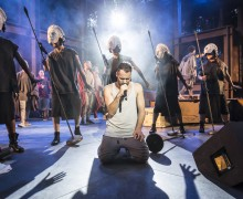 Jesus Christ Superstar. Declan Bennett as Jesus at the Open Air Theatre in Regent's Park