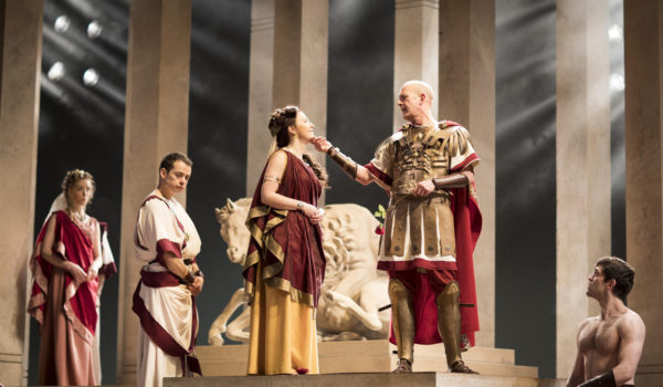 Angus Jackson, Julius Caesar, Royal Shakespeare Company, William Shakespeare, Barbican, Anthony and Cleopatra, Titus Andronicus, Coriolanus, Robert Innes Hopkins, Martin Hutson, Tom McCall, Alex Waldmann, Hannah Morrish